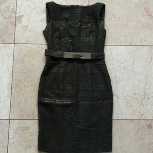 Dresses & Skirts - Beautiful tailored khaki/gold dress❤️